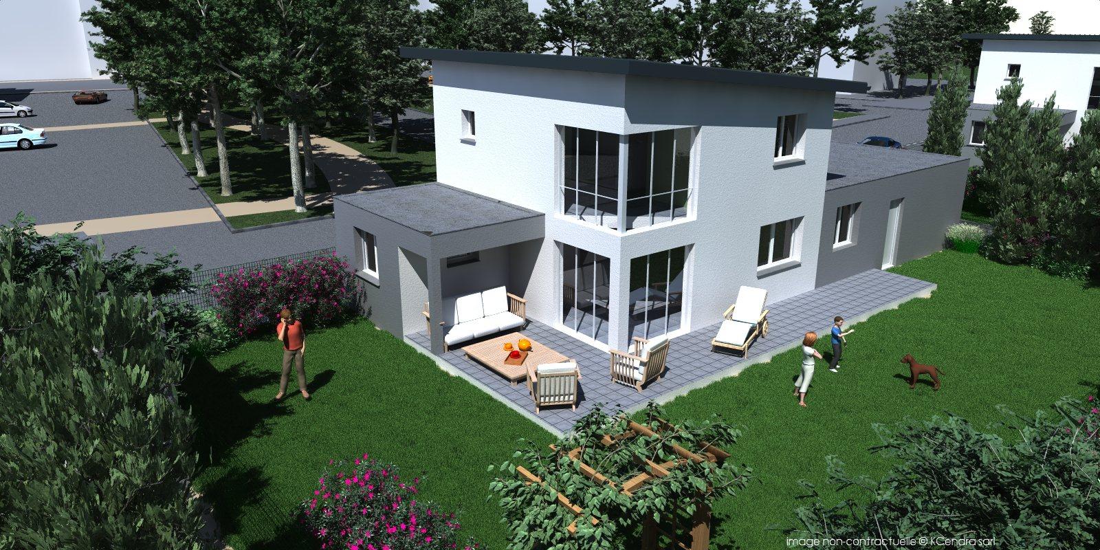 Programme les villas bourguignon bp immobilier for Piscine diabolo a bourg de peage